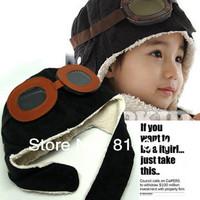 Winter baby earflap,Pilot cap, children hats boys, flight caps, Free Shipping 1pcs/lot(min,order $10)