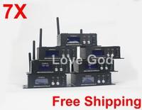 2.4Ghz Wireless DMX512 Transmitter DMX512 receiver disco lighting for dmx light battery par light 7X
