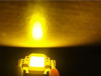 5pcs 12v 10W High Power Super Bright Yellow Led Chips 400lm Torch Studio Beads Emitting Em009