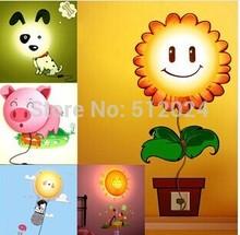 28*28*7CM Novelty DIY Wallpaper Lamp Cartoon Atmosphere Night Light   Wall Cartoon Light  Free shipping(China (Mainland))