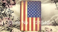 New British/US flag Style Leather Wallet Credit Card Case Stand Cover For Apple ipad Mini Free Shipping