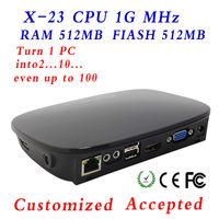 XCY x-23 mini cloud terminal hot black designed smart cloud sharer with HDMI, VGA,  USB*3