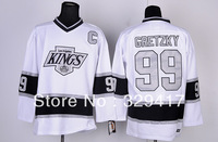 Free shipping!!! Cheap Men's Ice Hockey Los Angeles #99 Gretzky Black/White Colors Jerseys