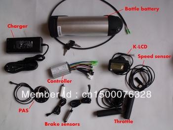 ebike conversion kit 36V Li-ion bottle bttery ,36V250W front or rear motor