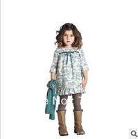 New arrival 2013 summer fashion pastoralism girls dresses,dress for girls princess, brand dress 2T-8T