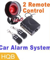 2 SET/LOT,Car alarm security system 1-Way Car Alarm Protection System with 2 Remote Control,free shipping Wholesale