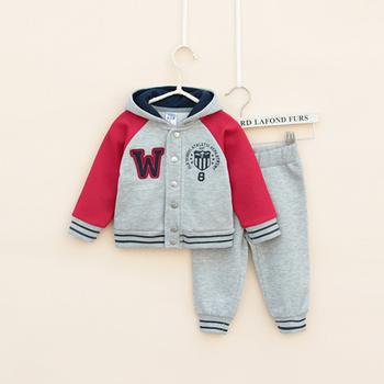 Spring/autumn Children's Clothing Sets100% cotton baby Boy's 2piece suit set sport suit sets tracksuits hoody jackets +pants