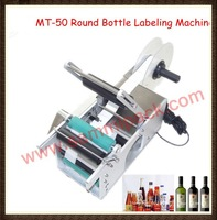 Free shipping by DHL/FEDEX, High quality MT-50 Semi-automatic round bottle labeling machine ,bottle label sticker