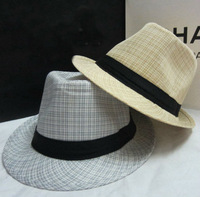 wholesale women and men summer popular casual boater wheat braid 100% natura straw  fedora hats