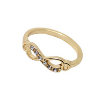 Wholesale  Free Shipping 2013 New Arrival Items High Quality Gold Silver One Direction Infinity Ring R158