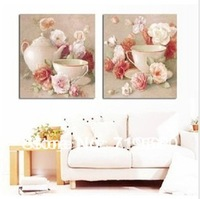 Free shipping DIY 100% new unfinished embroidery cross stitch pattern completed kit ----romantic sweet afternoon tea rose