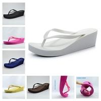 2013 Fashion platform flip flops shoes Women wedges sandals high heel beach slippers wear-resistant slip-resistant