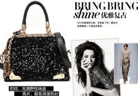 2013 Hot sale! Free Shipping Bone grain tide bucket woman handbag fashion restoring ancient ways shoulder bag