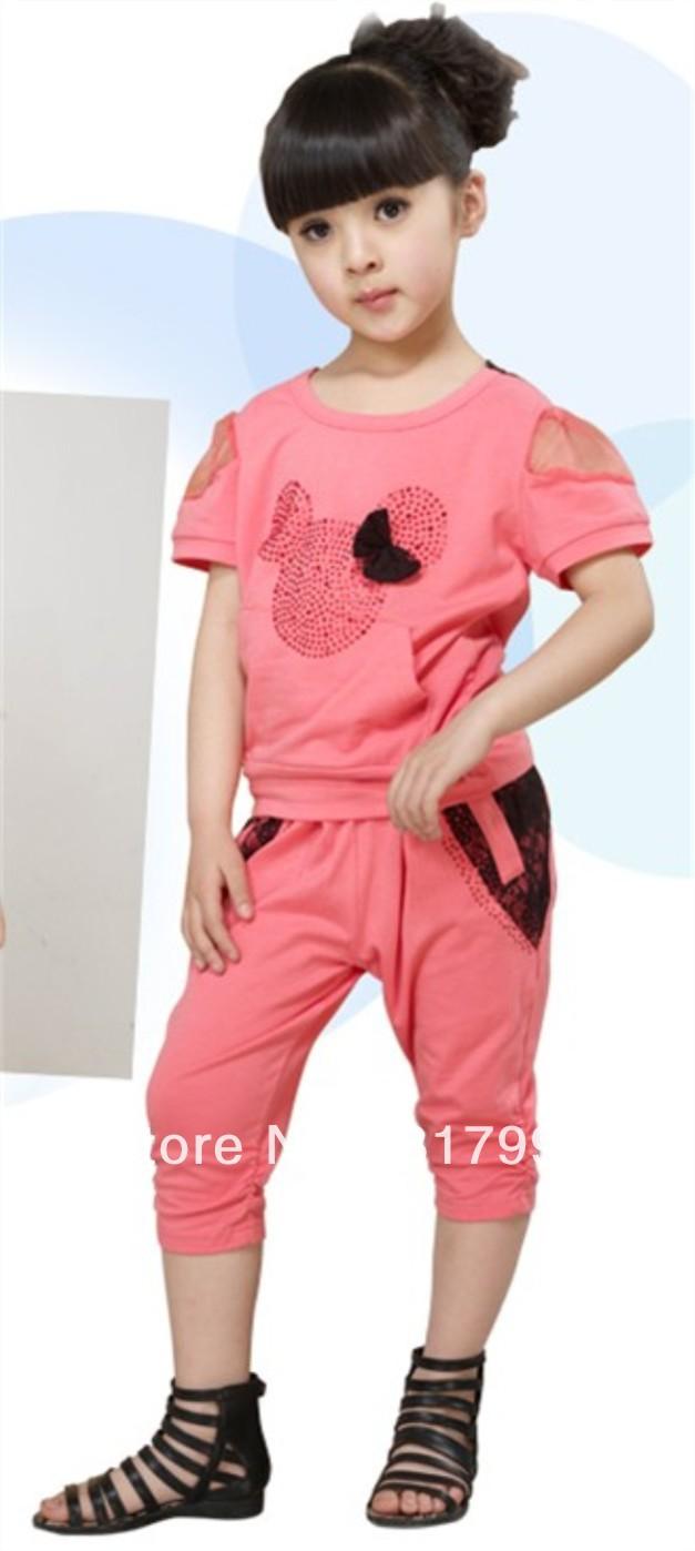 Bowknot Shirt Bowknot Shirt Pants Set
