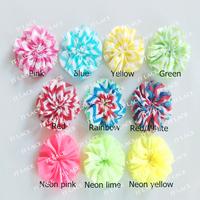 FREE Shipping chiffon chevron flower,chiffon ballet flowers 10 colors in stock 120PCS