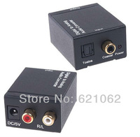 Digital SPDIF Optical Coaxial Toslink to Analog RCA R/L Audio Converter Adapter Free Shipping