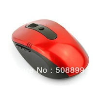 Free Shipping 10M 2.4G Wireless Optical USB Mouse for Laptop PC Red+Dropshipping