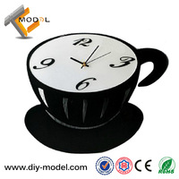 Customized Coffee Cup Design Promotional Silent DIY Acrylic 3D Clock For Door Gifts TC-S562