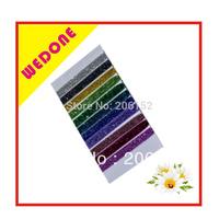 "Free Shipping Wholesale 50pcs 5colors 3/8"" Glitter FOE Hair Tie Elastic Bracelet Elastic Hair Accessories Ponytail Holder"