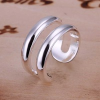 Wholesale 925 Silver Ring 925 Silver Fashion Jewelry,Two wire Ring Top Quality SMTR038