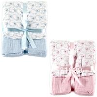 2pcs/lot Free Shipping USA Hudson Baby 2-Pack Muslin Swaddle Blanket,newborn holds blankets baby sleeping bag