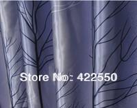 Modern minimalist special gray blackout drapes / bedroom, living room / den custom curtains