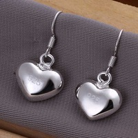 Wholesale 925 Silver Earring 925 Silver Fashion Jewelry,Small Fat Heart Earrings Best Service SMTE022