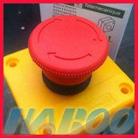 10pcs/set factory directory mushroom emergency stop switch box 1NO+1NC