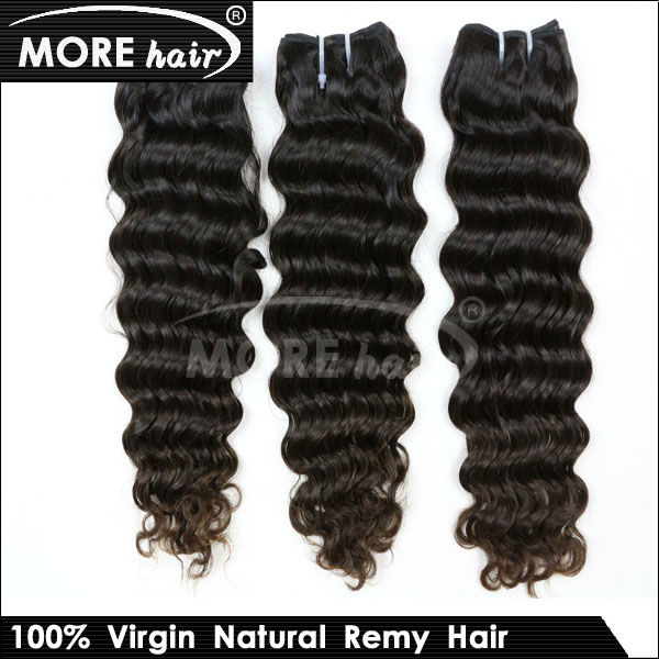 "2013 Hot Wholesale 5A Malaysian Deep Wave Virgin Hair Curly Weave 3 Piece lot Free Shipping 14""-24""Thick end(China (Mainland))"