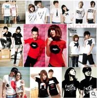 2014 Summer couple lover shirt  Sweethearts outfit summer new Korean couple T-shirt female short-sleeved Korean Women