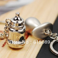Lover Key Chain Baby Nipple Key Ring Bag Accessories Christmas Gift Free Shipping Zinc Alloy