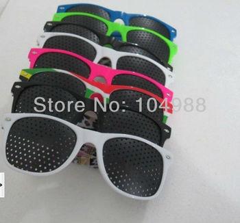 2013 Wholesale Cheap 20 pcs Wayfarer Unisex Vision Care Pinhole Eyeglasses Eye Exercise Eyesight Improve plastic 8 Colors