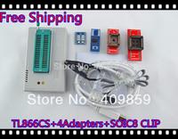 Free Shipping Hot V6.0 TL866CS High speed true Willem USB BIOS Universal Programmer+PLCC32/PLCC44+SOP8&16+MSOP8 +13143 chips