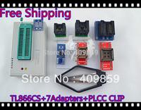 Free Shipping Hot Sale V6.0 TL866CS High speed  Willem USB BIOS MiniPro Universal Programmer+8Adapters+PLCC CLIP+13143 chips