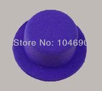Free Shipping,Party Felt Plain Mini Top Hat.DIY little hat 13cm diamtre ,10piece/lot,purple