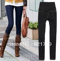 Free shipping, summer&autumn, 2013 summer pregnancy jeans ,brand denim, skinny, 2 colors, pants for maternity size S/M/L/XL