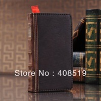 Wholesale 10pcs/lot Book Style Wallet Retro Vintage Credit Card Flip Case Cover for Samsung Galaxy S3 III i9300 Free shipping