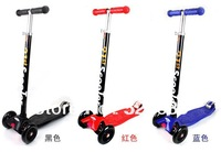 EMS / FEDEX Free shipping adjustable (60cm-90cm) Folding MICRO Maxi Scooter for 5-12years old kids scooter for boys & girls