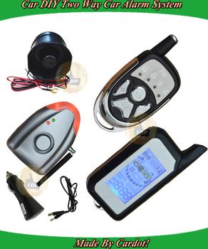 DIY Two way car security system,air pressure door open alarm,shock sensor alarm,protect original car circuit,key lock feature
