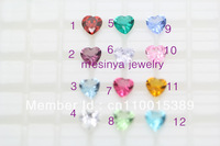 2013 floating charm 6mm heart birthstone 9 colors available no glass locket this order Xmas gift mother's day