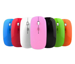 Ultra Slim 2.4G Wireless Mouse Optical Mice For Notebook Laptop PC, Intelligent Power Saving, Crystal Box Packing(China (Mainland))
