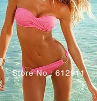 Holiday Sale 2014 Fashion Sexy Bikini 80% polyester bathing suit Swimsuit Swimwear for women's beachwear set Free Shipping