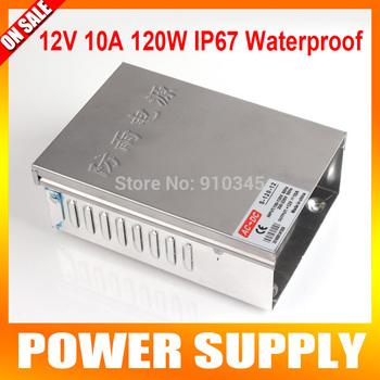 12V 10A 120W Waterproof IP67 Wall Switch CCTV Power Supply Transformer LED CCTV Camera DVR Security AC 100V-220V Input