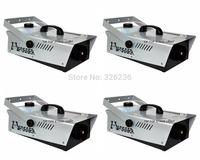 4Pcs/Lot 1200W Fog Machine Cable Control/Remote Control DJ Fogger Smoke Machine 1200W 90V-240V Stage Effect Machine