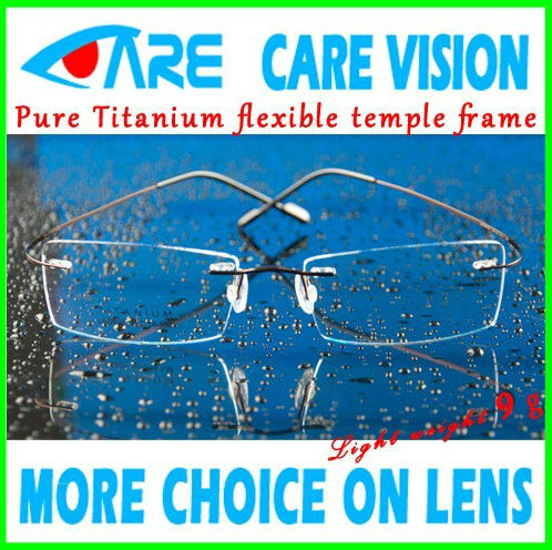 Designer Titanium Rimless Hingless RX able Optical Eyeglasses Frames(China (Mainland))