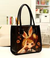 Bolsas Real Silt Pocket Small(20-30cm) Soft Women Handbags The New 2014 Spring Penhui Printing Portable Leisure Female Bag B1011