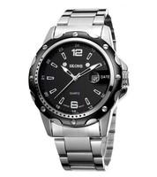 SKONE Watches Men Genuine Steel Strap Watchband Quartz Movement Noctilucent Fashion Wristwatch For Men