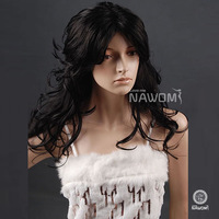 2013 Free shipping European Black Women Curly Wig 100% Kanekalon Nawomi Wig