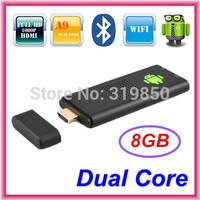 Bluetooth MK809 Android 4.2.2 Mini PC TV Stick Rockchip RK3066 Cortex A9 1.6GHz Dual core 1GB RAM 8GB ROM MK809III 3D TV Box