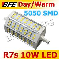2pcs/Lot R7S 10W LED Lamp 5050 SMD Cold/Warm White Spot Light Bulbs 230V